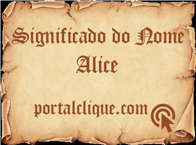 Significado de Alice