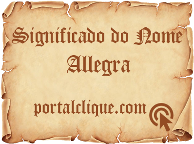 Significado do Nome Allegra