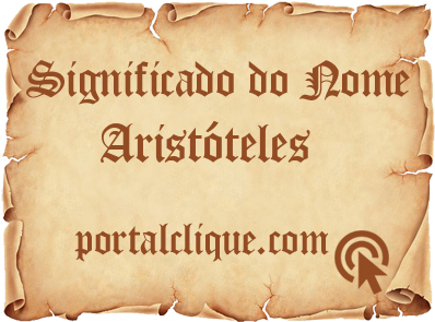 Significado do Nome Aristóteles
