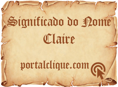 Significado do Nome Claire