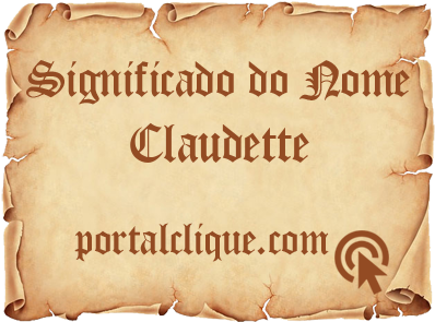 Significado do Nome Claudette