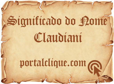 Significado do Nome Claudiani