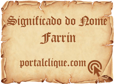 Significado do Nome Farrin