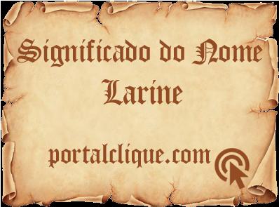 Significado de Larine