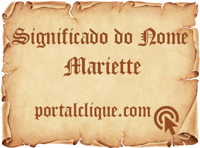 Significado do Nome Mariette