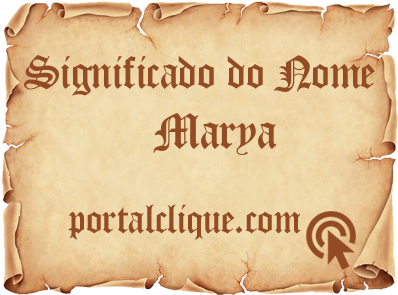 Significado do Nome Marya