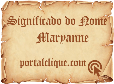 Significado do Nome Maryanne