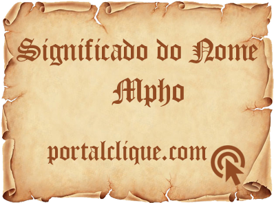 Significado do Nome Mpho