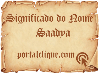 Significado do Nome Saadya