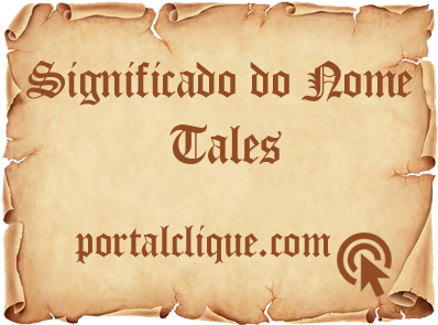 Significado do Nome Tales