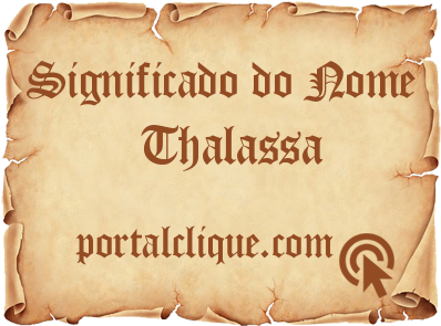 Significado do Nome Thalassa