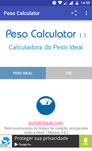 Peso Calculator: Calculadora do Peso Ideal - Android